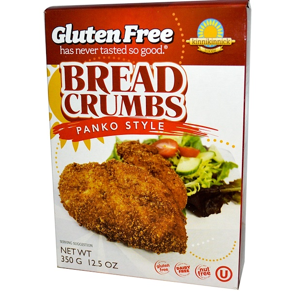 Kinnikinnick Foods, Bread Crumbs, Panko Style, 12.5 oz (350 g) (Discontinued Item)