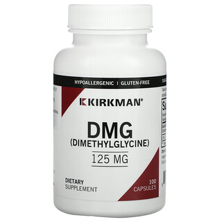 Kirkman Labs, DMG (Dimethylglycine), 125 mg, 100 Capsules