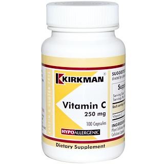 Kirkman Labs, 비타민 C, 250 mg, 100 캡슐