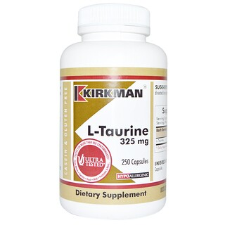 Kirkman Labs, L-Taurine, 325 mg, 250 Cápsulas