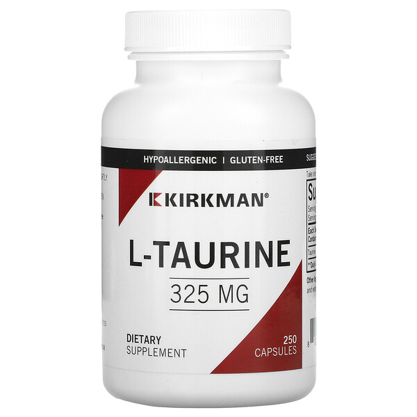 L-Taurine, 325 mg, Hypo Allergenic,250 Capsules