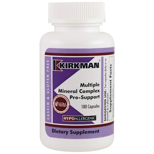 Kirkman Labs, 多種礦物質專業支持膠囊,180 粒