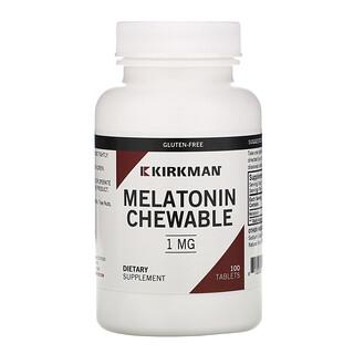 Kirkman Labs, Мелатонин, жевательные таблетки, 1 мг, 100 таблеток