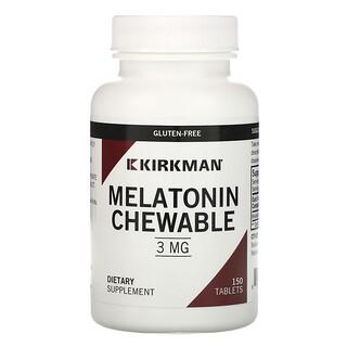 Kirkman Labs, Melatonin Chewable, 3 mg, 150 Tablets