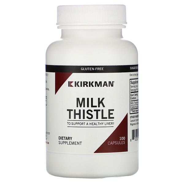 Kirkman Labs, Milk Thistle, 100 Capsules