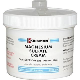 Kirkman Labs, 硫酸マグネシウムクリーム, 4オンス (113 g)