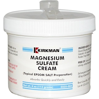 Kirkman Labs, Sulfato de magnesio en crema, 4 oz (113 g)