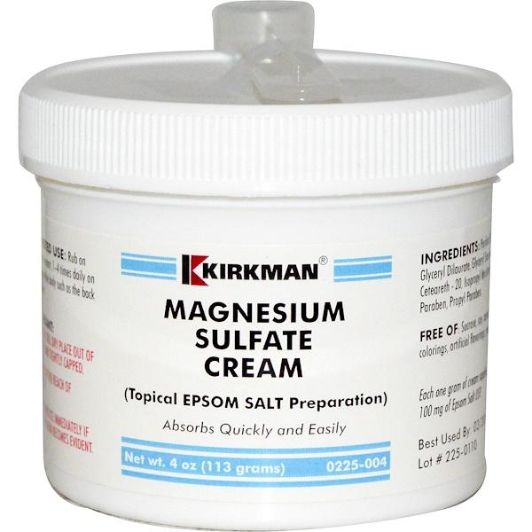 Kirkman Labs, Крем с сульфатом магния, 4 унции (113 г)