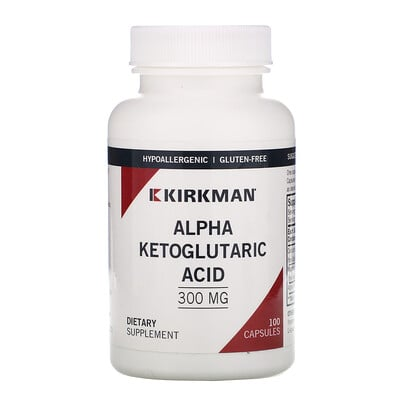 Купить Kirkman Labs альфа-кетоглутаровая кислота, 300мг, 100капсул