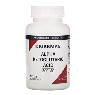 Kirkman Labs, Alpha Ketoglutaric Acid, 300 mg, 100 Capsules