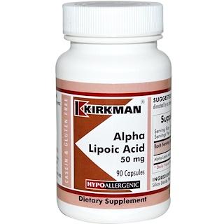 Kirkman Labs, Alpha Lipoic Acid, 50 mg, 90 Capsules