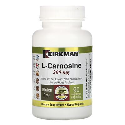 Купить Kirkman Labs L-Carnosine, 200 mg, 90 Vegetarian Capsules