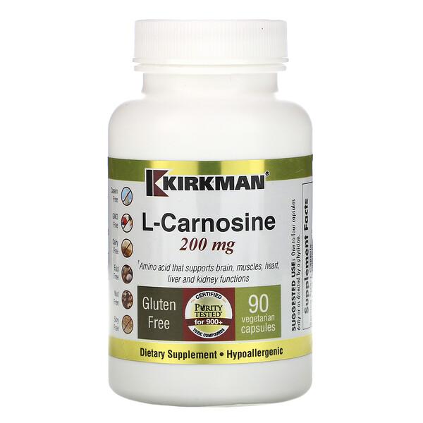 L-Carnosine, 200 mg, 90 Vegetarian Capsules
