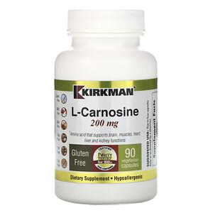 Киркман Лэбс, L-Carnosine, 200 mg, 90 Vegetarian Capsules отзывы покупателей