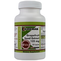 Kirkman Labs, Экстракт из косточек грейпфрута, 125 мг, 120 капсул