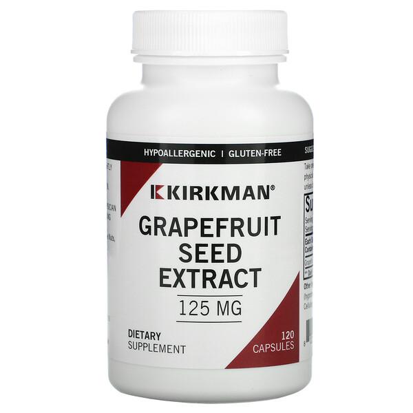Extracto de semilla de pomelo, 125 mg, 120 cápsulas