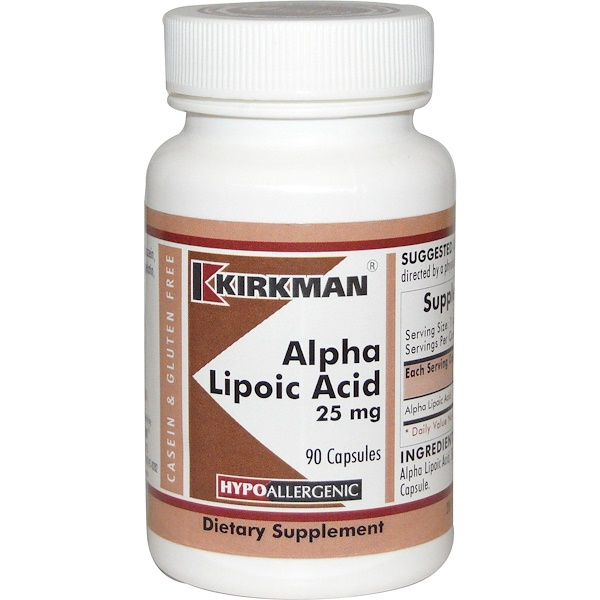 Alpha Lipoic Acid, 25 mg, 90 Capsules