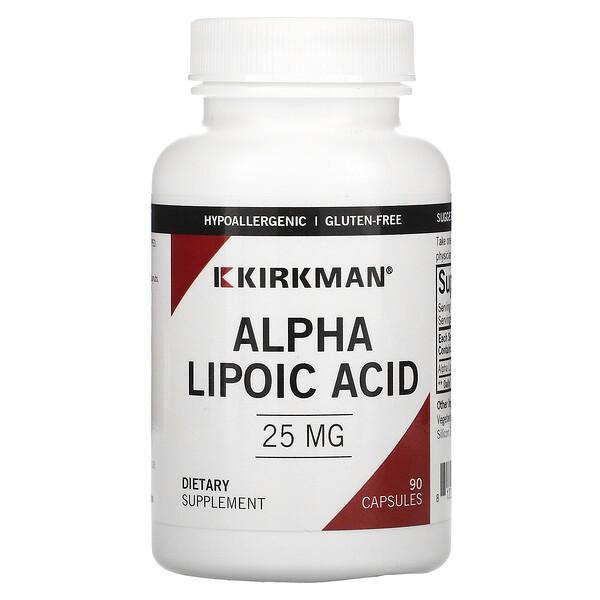 Alpha Lipoic Acid, 25 mg, 90 Capsules