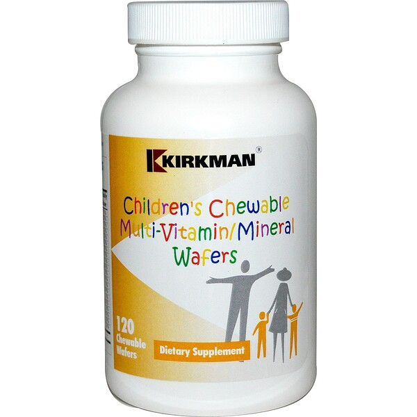Kirkman Labs, Children's Chewable Multi-Vitamin/Mineral Wafers, 120 Chewable Wafers