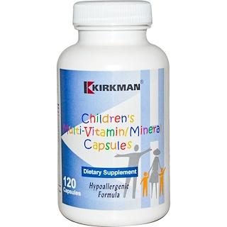 Kirkman Labs, Children's Multi-Vitamin/Mineral, Capsules, Hypoallergenic Formula, 120 Capsules