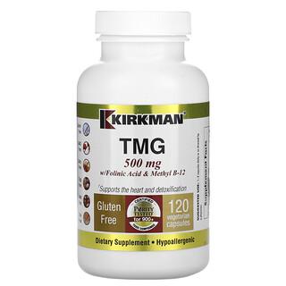 Kirkman Labs, TMG with Folinic Acid & Methyl B-12, 500 mg, 120 Vegetarian Capsules