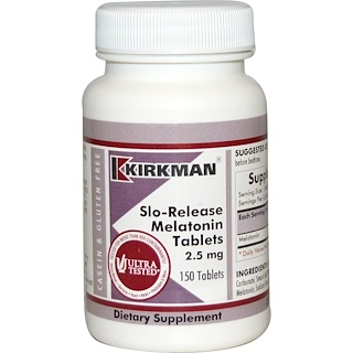 Kirkman Labs, Slo-Release Melatonin, 150 Tablets