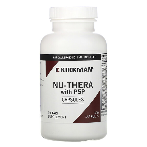 Kirkman Labs, Nu-Thera with P5P, 300 Capsules