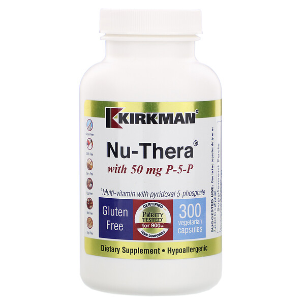 Nu-Thera with 50 mg P-5-P, 300 Vegetarian Capsules