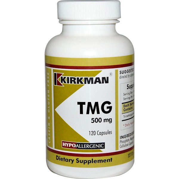 TMG (Trimethylglycine), 500 mg, 120 Capsules