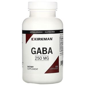 Киркман Лэбс, GABA, 250 mg, 150 Capsules отзывы покупателей