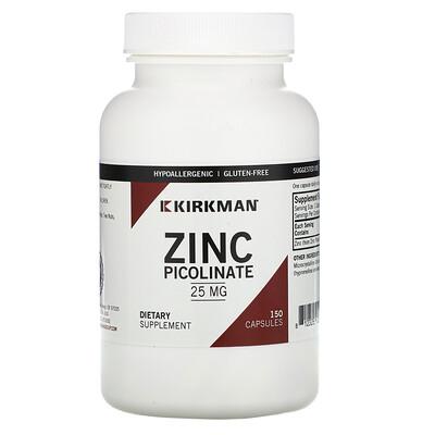 Купить Kirkman Labs Пиколинат цинка, 25 мг, 150 капсул