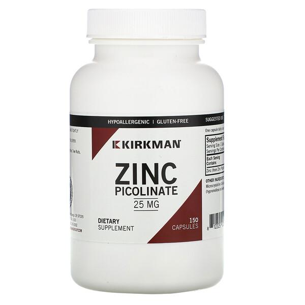 Picolinato de Zinc, 25 mg, 150 Cápsulas