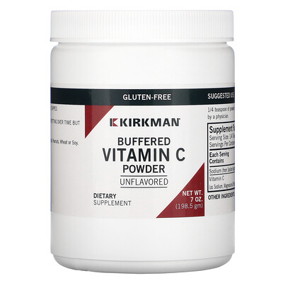 Купить Kirkman Labs буферизованный порошок витаминаC, с нейтральным вкусом 198, 5г (7унций)