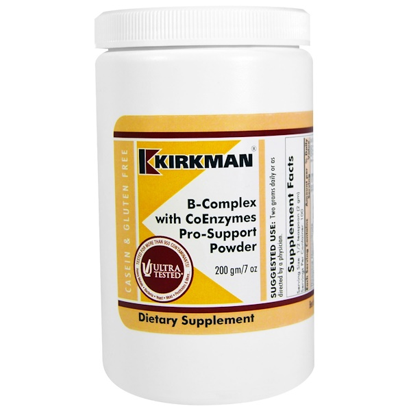 Kirkman Labs, B-Complex with CoEnzymes Pro-Support Powder, 7 oz (200 g) (Discontinued Item)