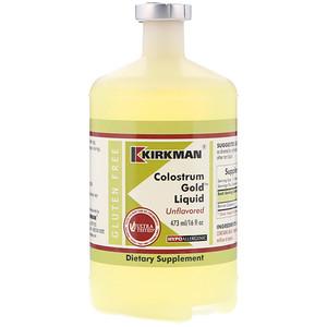 Киркман Лэбс, Colostrum Gold Liquid, Unflavored, 16 fl oz (473 ml) отзывы