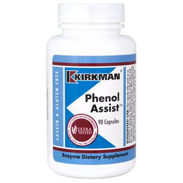 Kirkman Labs, Phenol Assist, 90 капсул