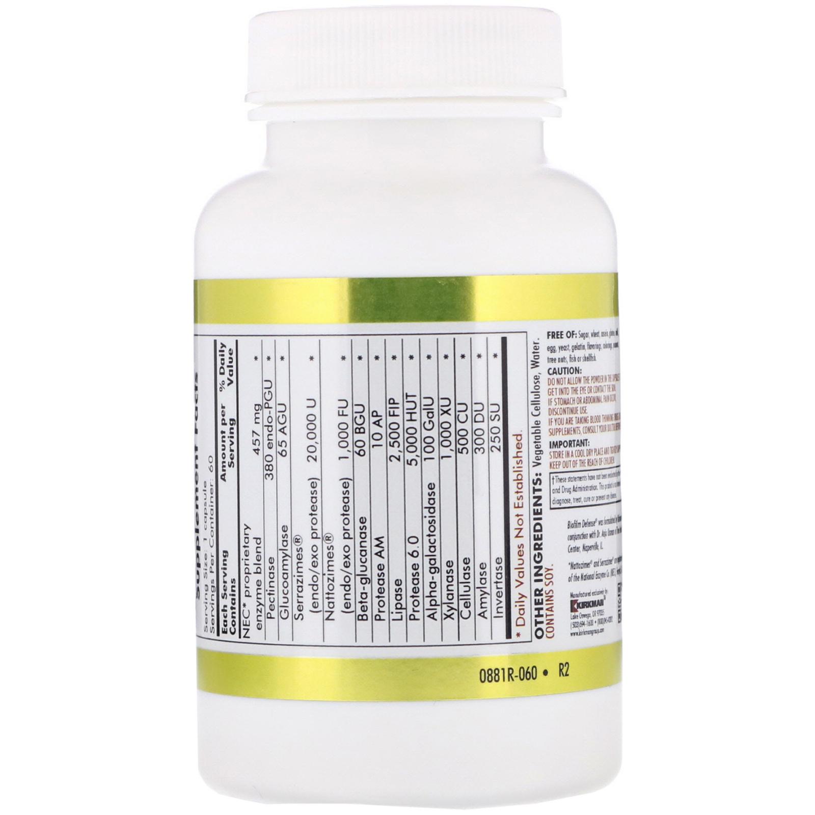 Kirkman Labs, Biofilm Defense, 60 Vegetarian Capsules - iHerb com