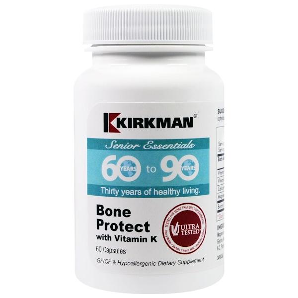 Kirkman Labs, Формула для старшего поколения от 60 до 90 лет, защита костей с витамином К, 60 капсул (Discontinued Item)