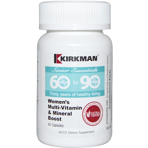 Kirkman Labs, Senior Essentials 60 to 90 Years, Women's Multi-Vitamin & Mineral Boost, 60 Capsules (Discontinued Item)