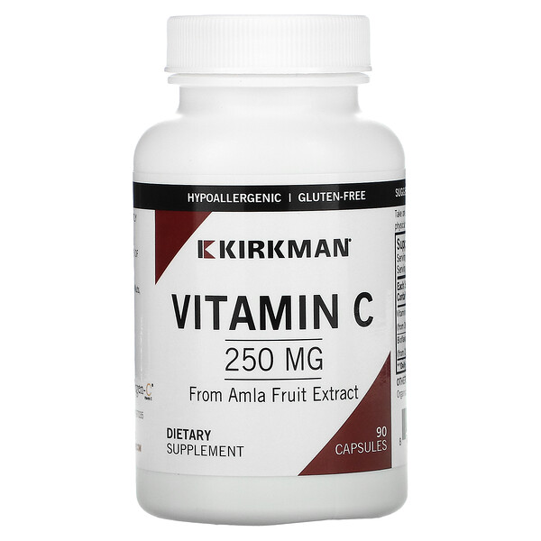 Vitamin C, 250 mg, 90 Capsules