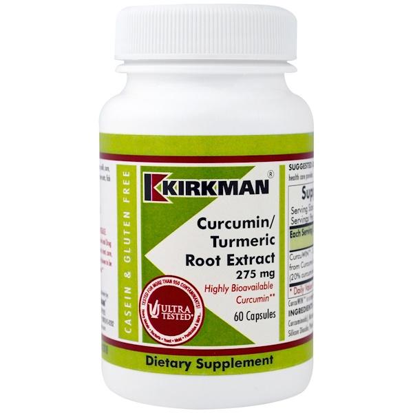Kirkman Labs, Curcumin/Turmeric Root Extract, 275 mg, 60 Capsules (Discontinued Item)