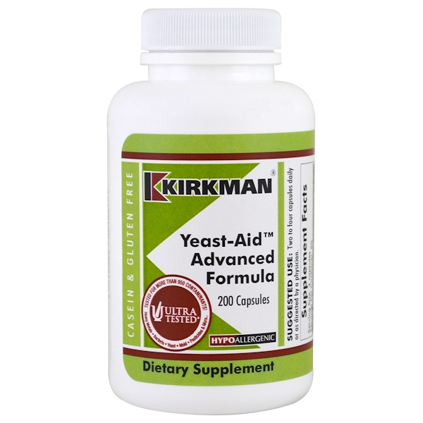 Kirkman Labs, Yeast-Aid Advanced Formula, 200 Capsules (Discontinued Item)