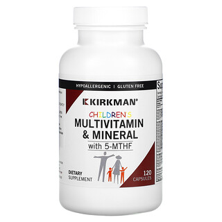 Kirkman Labs, Children's Multivitamin & Mineral with 5-MTHF, 120 Capsules