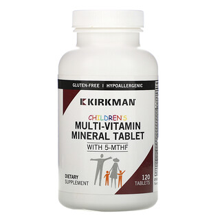 Kirkman Labs, Children's Multi-Vitamin Mineral Tablet with 5-MTHF, 120 Tablets