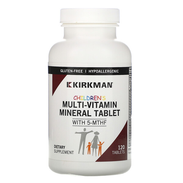 Children's Multi-Vitamin Mineral Tablet with 5-MTHF, 120 Tablets