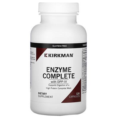 Купить Kirkman Labs Enzyme Complete With DPP-IV, 120 Capsules