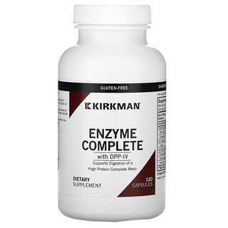 Kirkman Labs, Enzyme Complete With DPP-IV, 120 Capsules