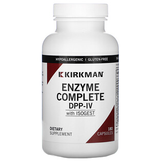 Kirkman Labs, Enzyme Complete DPP-IV With ISOGEST, 180 Capsules