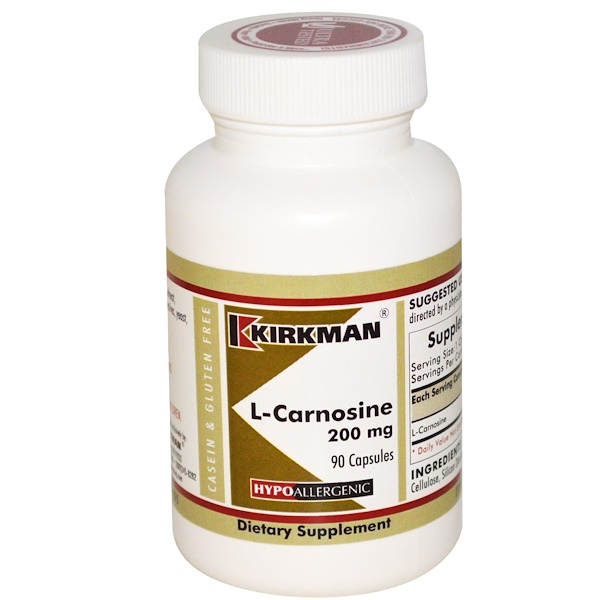 Kirkman Labs, L-Carnosine, 200 mg, 90 Capsules (Discontinued Item)