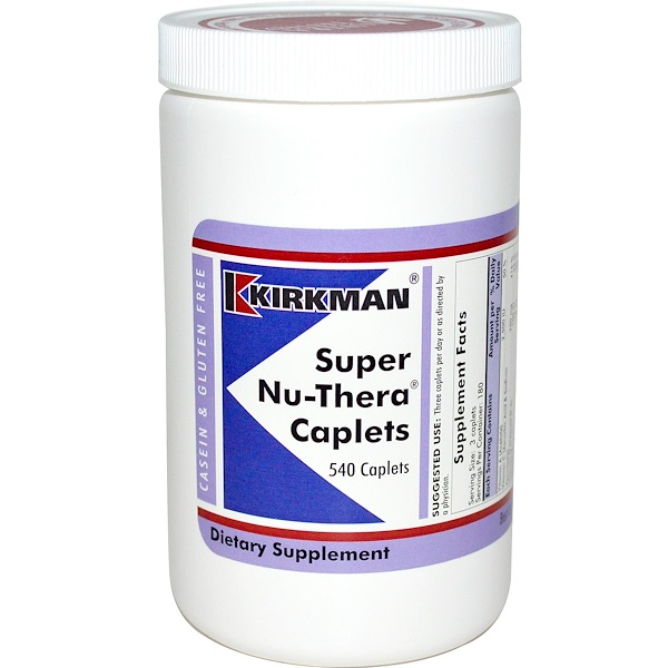 Kirkman Labs, Super Nu-Thera, 540 Caplets (Discontinued Item)
